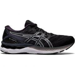 Asics Mens Gel Nimbus 23 Wide Fit Running Shoes - Black White