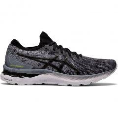 Asics Mens Gel Nimbus 23 Knit Running Shoes - Sheet Rock Black