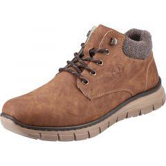 Rieker Mens B5632 Wide Fit Chukka Boots - Peanut Brown
