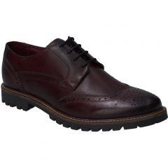 Base London Mens Grundy Brogue Shoes - Washed Brown