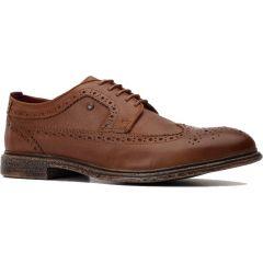 Base London Mens Onyx Brogue Shoes - Tan
