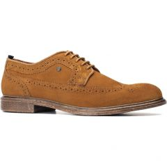 Base London Mens Onyx Brogue Shoes - Cognac