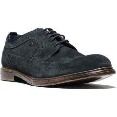 Base London Mens Onyx Brogue Shoes - Navy