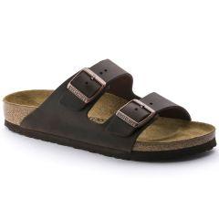 Birkenstock Mens Womens Arizona Leather Regular Fit Sandals - Habana