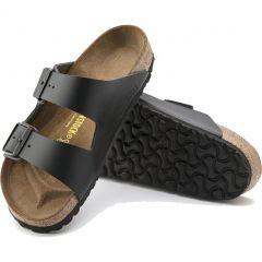 Birkenstock Mens Womens Arizona Leather Sandals - Black