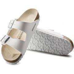 Birkenstock Womens Arizona Birko Flor Sandals - White