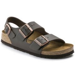 Birkenstock Mens Milano Leather Sandals - Dark Brown