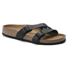 Birkenstock Womens Yao Balance BirkoFlor Sandals - Black