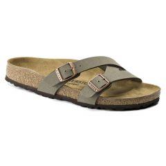 Birkenstock Womens Yao Balance BirkoFlor Sandals - Stone BirkiBuck