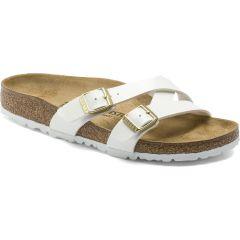 Birkenstock Womens Yao Balance BirkoFlor Sandals - White