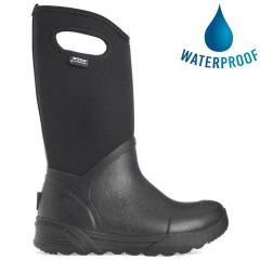 Bogs Mens Bozeman Tall Neoprene Wellies - Black