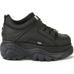 Buffalo Boots Womens 1339-14 Chunky Platform Trainers Shoes - Black