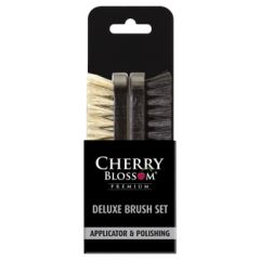 Cherry Blossom Shoe Care Deluxe Twin Brush Set