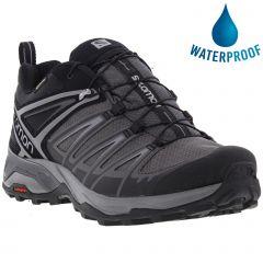 Salomon Mens X Ultra 3 Gtx Waterproof Walking Hiking Trainers Shoes - Black Magnet Quiet Shade