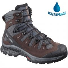 Salomon Womens Quest 4D 3 GTX Waterproof Walking Boots - Ebony Chocolate Plum Peppercorn