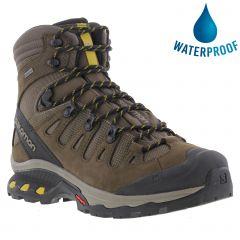 Salomon Mens Quest 4D 3 GTX Waterproof Walking Hiking Boots - Wren Bungee Green Sulpher