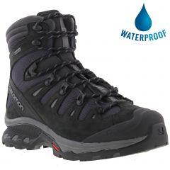 Salomon Mens Quest 4D 3 GTX Waterproof Walking Hiking Boots - Phantom Black Quiet Shade