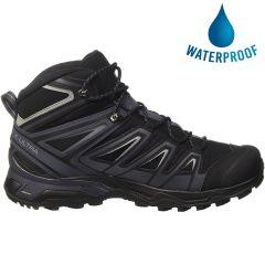 Salomon Mens X Ultra 3 Mid Gtx Waterproof Walking Hiking Boots - Black India Ink Monument