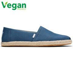 Toms Mens Classic Alpargata Espadrille Vegan Shoes - Plant Dyed Indigo