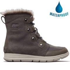 Sorel Womens Exploer Joan Waterproof Boots - Quarry Black