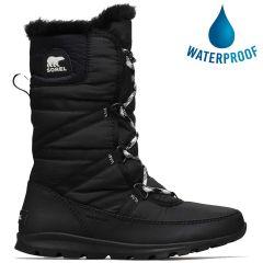 Sorel Womens Whitney Tall Lace II Waterproof Boots - Black