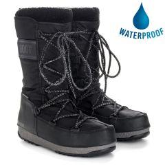 Moon Boot Womens Monaco Wool Waterproof Boots - Black