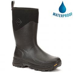Muck Boots Mens Arctic Ice Mid Arctic Grip Waterproof Wellington Boots - Black