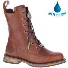 Harley Davidson Womens Heslar CE Waterproof Boots - Rust