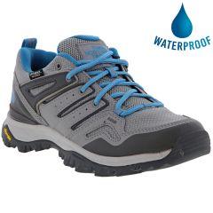 North Face Womens Hedgehog Fastpack II WP Waterproof Walking Shoes - Zinc Grey Shady Blue
