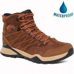 North Face Mens Hedgehog Hike II Mid WP Mens Waterproof Walking Boots - Timber Tan India Ink