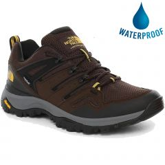 North Face Mens Hedgehog Fastpack II WP Waterproof Walking Shoes - Chocolate Brown Black