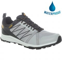 The North Face Mens Litewave Fastpack II WP Waterproof Walking Shoes - Griffin Grey TNF Black