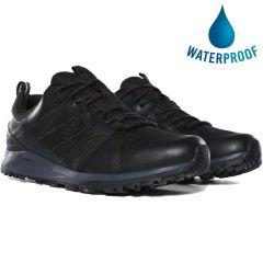 North Face Mens Litewave Fastpack II Waterproof Walking Shoes - Black Ebony Grey