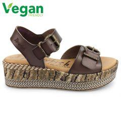 Blowfish Womens Leeds Vegan Sandals - Tobacco Dyecut
