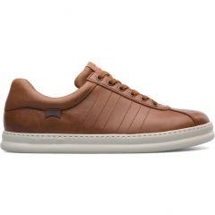 Camper Men's Runner Four K100227 Leather Shoes - 014 Medium Brown