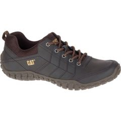 Cat Mens Instruct Leather Shoes - Coffee