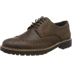Chatham Mens Hylton Leather Wingtip Brogue Country Shoes - Dark Brown