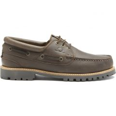 Chatham Mens Sperrin Leather Country Deck Boat Shoes - Dark Brown