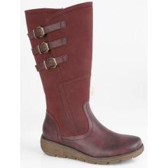 Cipriata Womens Italania Boots - Burgandy