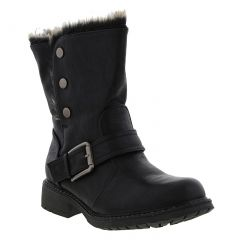 Cipriata Womens Andreana Biker Style Ankle Boots - Black
