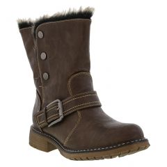 Cipriata Womens Andreana Biker Style Ankle Boots - Brown
