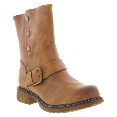 Cipriata Womens Andreana Biker Style Ankle Boots - Tan