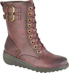 Cipriata Womens Nadia Boots - Burgandy