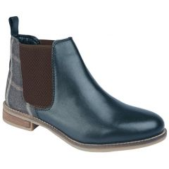 Cipriata Womens Zoe Leather Chelsea Boots - Blue Tweed