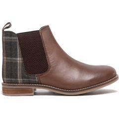 Cipriata Womens Zoe Leather Chelsea Boots - Dark Brown Tweed