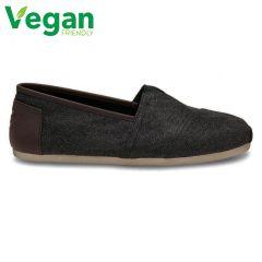 Toms Mens Classic Alpargata Vegan Espadrilles Slip On Shoes - Charcoal Herringbone