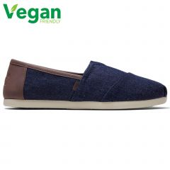 Toms Mens Classic Alpargata Vegan Espadrilles Slip On Shoes - Dark Denim