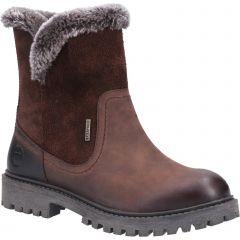 Cotswold Womens Aldestrop Waterproof Winter Boot - Chocolate
