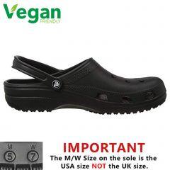 Crocs Mens Womens Classic Clog Vegan Work Shoes Sandals - Black