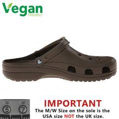 Crocs Mens Womens Classic Clog Vegan Work Shoes Sandals - Chocolate